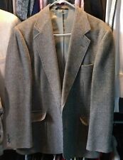 Vintage Haggar Imperial 100%wool 2 Button Jacket Leather Elbow Patch Mens