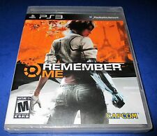 Remember Me Sony PlayStation 3 *Factory Sealed! *Free Shipping!