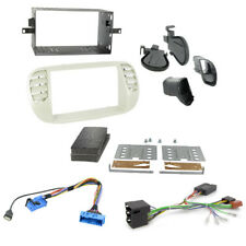 Fiat 500 Double Din Car Fascia Panel Fitting Kit + Steering Control Interface