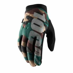 100% Adult Brisker Warm Winter Motocross Gloves Cold Weather Thermal Camo Black