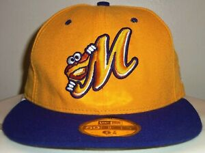 NEW VINTAGE 00's MONTGOMERY BISCUITS MILB MINORS NEW ERA FITTED CAP HAT 6 7/8