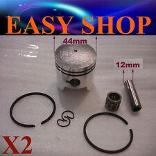 2X 44mm Piston Rings Kit 43c 47 49cc 2 Stroke Mini Dirt PIT Quad Bike ATV Pocket