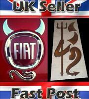 Fiat Punto Grande EVO 3D Dome Devil Demon Car Sticker Decal Badge Silver Chrome