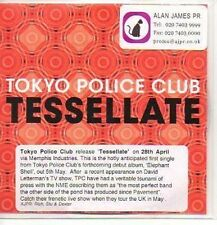 (P787) Tokyo Police Club, Tessellate - DJ CD