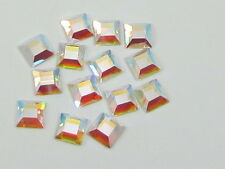 36 pcs. 4mm SQUARE CRYSTAL AB Swarovski rhinestones