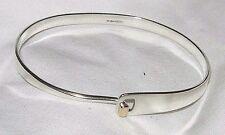 Mint HTF Ed Levin Sterling Silver 14K Gold Hook Bracelet Bangle Retired Design