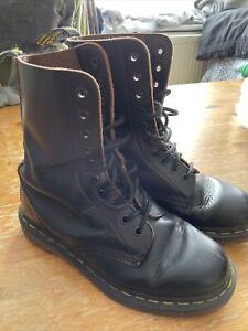 Dr Martens Black Leather 10 Hole Vintage Boots size 5