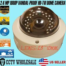 HD-TVI 2MP 1080p VandalProof Outdoor Varifocal 2.8-12mm Sony CMOS Dome Camera