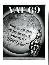 Publicité Vat 69 Scotch Whisky Distilled & Bottled in Scotland by Wm  1937