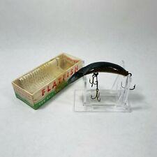 "Vintage Helin Flatfish Fishing Lure 2 3/4"" X5 SC Expert Natural Scale W/Box"