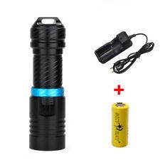 6000LM Scuba U2 White LED Diving Flashlight Torch Light 26650 Underwater 100m CH