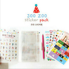 Zoo Diary Calendar Filofax Schedule Notebook Decoration Stickers 8 sheets /Set T