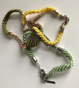 Jewelmint Spring Awakening 3 Friendship bracelet Olive, Green, Yellow Never Worn