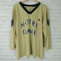 Notre Dame Fighting Irish Hockey Jersey Mens XL By Adidas Coca Cola