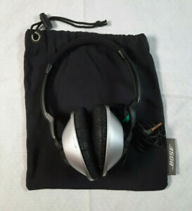 Bose Triport Headphones TP-1 with Carrying Bag Silver/Black