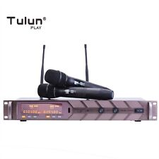 2X100 Channel Karaoke Uhf Wireless Microphone system Handheld Dj TulunPlay Pt128