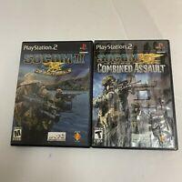 Socom II & Combined Assault Sony Playstation 2 ps2 Complete Lot Navy Seal F/S