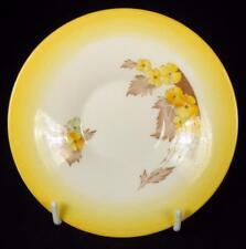 Shelley Yellow 'Phlox' Fine Bone China Orphan Saucer #W12190-6 (3 available)