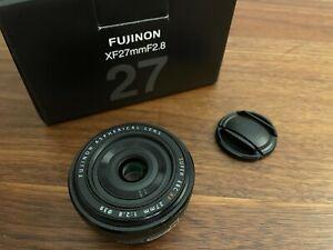 Fujifilm Fujinon XF27 mm f/2.8 Camera Lens - Black