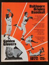 1972 DETROIT TIGERS VS BALTIMORE ORIOLES BASEBALL PROGRAM VINTAGE NICE 122118