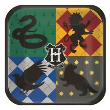 HARRY POTTER Mascots SMALL PAPER PLATES (8) ~ Birthday Party Supplies Dessert