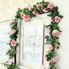 7.2ft Artificial Faux Flower Silk Rose Leaf Garland Vine Ivy Home Party Decor
