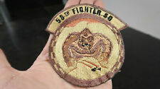 58th Fighter Squadron Patch in Subdued Khaki