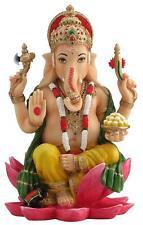 "Must See to Appreciate!  MULTI-COLOR Ganesh Hindu Elephant God Statue 7.25"""