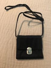 Black DKNY leather crossover/ Travel purse