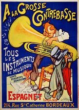 Original Vintage Poster A La Grosse Contrebasse by Laumond c1930 Music French