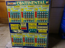 Bingo backglass ' CONTINENTAL ' Bally, no shipping, only collect !