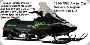 1990 - 1998 Arctic Cat All Models Snowmobile OEM Service & Repair Manual On CD