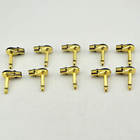 1/4 6.3mm Mono Right Angle Guitar Effect Pedal Plug- Gold plated Male Connector