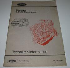 Technische Information Ford Econovan I 2.0 Liter Diesel Motor Stand März 1986
