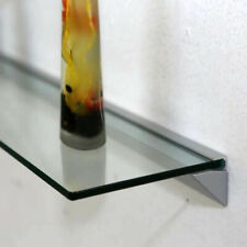 Naiture Bathroom Wall Mount Glass Wall Shelf Kit with Aluminum Bracket