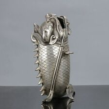Old Chinese Cupronickel  Handwork Dragon-fish Statue W Xuande Mark