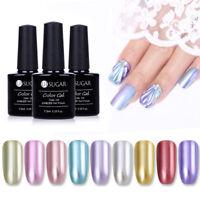 Metallic Mirror UV LED Gel Polish Silver  Nail art Varnish UR SUGAR