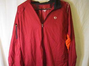 "Classic Large Red PEARL IZUMI ""Elite Series"" Zippered Road Bike Light Jacket"