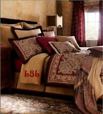 CHARISMA ORLANDO QUEEN 6PC DUVET SHAMS SKIRT SET RUBY RED BROWN PAISLEY