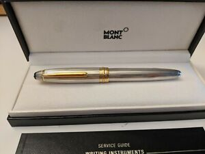 VINTAGE AUTHENTIC MONTBLANC MEISTERSTUCK STERLING SILVER 925 SOLITAIRE PEN