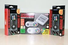 New Super Nintendo Snes Mini Console, 2 Wireless Controllers 200+Games Installed