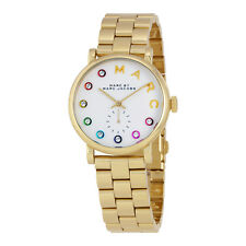 Marc by Marc Jacobs Baker White Dial Yellow Gold-tone Mens Watch MBM3440
