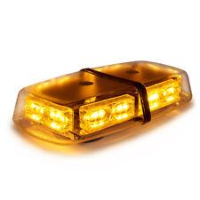 Xprite 18W 36 LED Top Roof Flash Emergency Mini Strobe Light Bar Amber Yellow