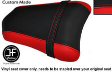 RED & BLACK VINYL CUSTOM FITS DUCATI 749 999 REAR PILLION PASSENGER SEAT COVER