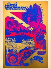 More details for jimi hendrix poster hapshash official print - track 67 signed by nigel waymouth