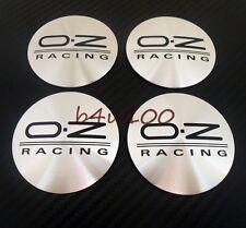 4PCS Metal Wheel Center Hub Caps Emblem Stickers 56mm OZ racing Curved new b5632