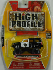 2006 Jeep Commander Safety SERVICE TUNING NEGRO/BLANCO HIGH PROFILE 1:64 JADA
