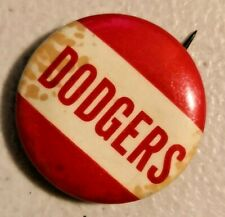 Vintage 1940s Brooklyn Dodgers Pin Button Pinback -- 2817