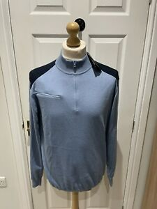 Ping Golf Jumper Navy/ Light Blue Brand New Size Large