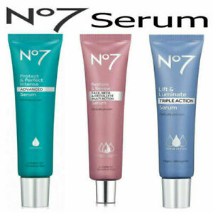 No7  Serum Protect & Perfect, Lift & Luminate, Restore & Renew Sealed